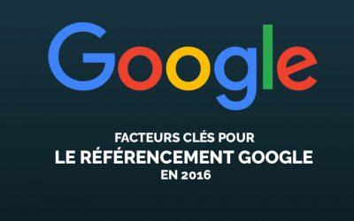 Les facteurs clés pour le référencement Google en 2016 selon l'étude annuelle Searchmetrics